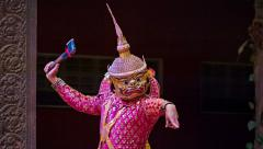 Siem reap, cambodia - 23 dec 2013: traditional cambodian show in the theater Stock Footage