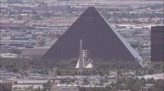 Luxor Sphinx Hotel and Casino Vegas Stock Footage