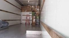 Packing Moving Van - stock footage