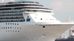 Timelapse of a  big luxury liner with many people Stock Footage