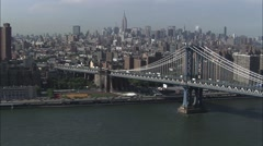 Manhattan Bridge New York Island Stock Footage