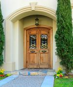 luxury house entrance porch - stock photo