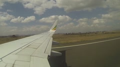 Takeoff from Lubumbashi, DRC Stock Footage