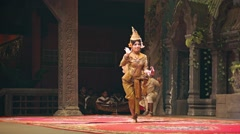 Siem reap, cambodia - 23 dec 2013: scene from the traditional show. mythical Stock Footage