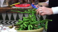 Cutting Edamame 'Soybeans' Off The Stem With Scissors 4K 4k or 4k+ Resolution
