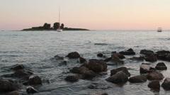 island on Adriatic sea - stock footage