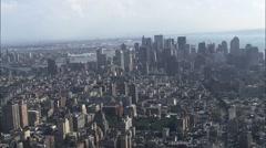 Lower Town Manhattan Island Stock Footage