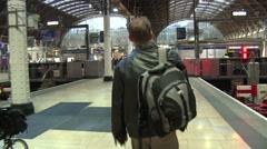 Walking through Paddington Station Stock Footage