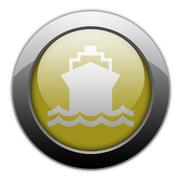 Icon, button, pictogram ship, water transportation Stock Illustration