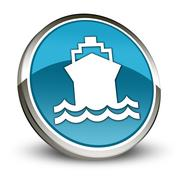 Stock Illustration of icon, button, pictogram ship, water transportation
