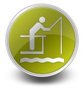 icon, button, pictogram fishing pier - stock illustration
