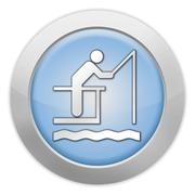 Icon, button, pictogram fishing pier Piirros