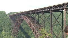 Traffic on New River Gorge Bridge Stock Footage
