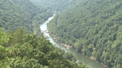 New River near Fayetteville WV Stock Footage