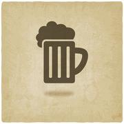 Pint old background Stock Illustration
