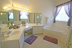 master bathroom - stock photo