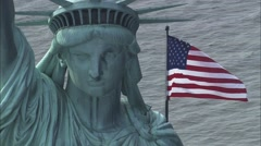 Statue of Liberty on Liberty Island Stock Footage