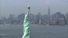 Stock Video Footage of Statue of Liberty on Liberty Island