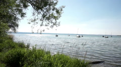 Lake Ammersee in bavaria, germany in summer Stock Footage