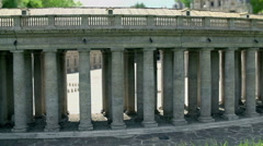 Side pillars of St. Peter's Cathedral in Vatican City Stock Footage