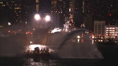 Fire Rescue Boat Hudson River Stock Footage