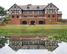 Stock Photo of tudor house reflections