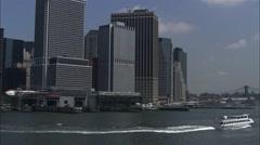 Hudson River Staten Island Stock Footage