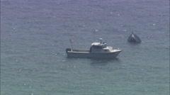 Sunken Boat Hudson River Stock Footage