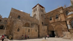 Jerusalem 4K Church of the Holy Sepulchre exterior 3 25P - stock footage