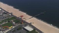 Coney Island Beach Brooklyn Coast Stock Footage