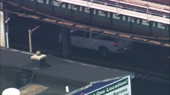 White Truck Brooklyn City Stock Footage