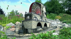 The Laxey Wheel from Great Britain Stock Footage