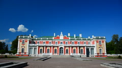 Beautiful royal castle in park Stock Footage