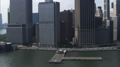 Manhattan Island Helicopter Landing Pad Stock Footage