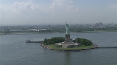 Liberty Island Statue of Liberty Stock Footage