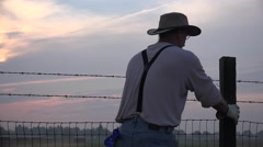 COWBOY RANCHER, long days work Stock Footage