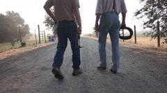 COWBOY RANCHER, walking Stock Footage