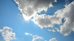 Sun comes out behind the clouds Stock Footage