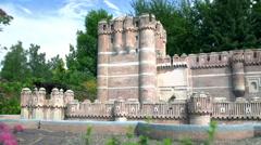 Coca Castle in Spain - stock footage