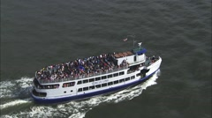 Liberty Island Ferry New York Stock Footage