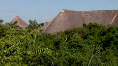 Caribbean tropical thatched hut Stock Footage