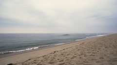 Cape Cod beach with waves rolling in 1 Stock Footage