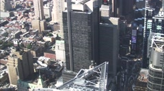 Dock New York City Times Square Stock Footage