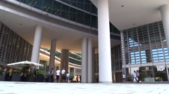 timelapse crowd out of business center - stock footage