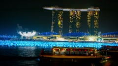 Singapore - circa dec 2013: before new year bay front of the hotel marina bay Stock Footage
