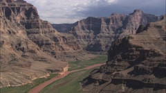 Grand Canyon Mountain River Stock Footage