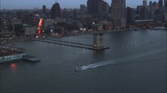 Fire Rescue Boat Manhattan Island Stock Footage