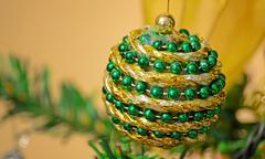 green and yellow ball - stock photo