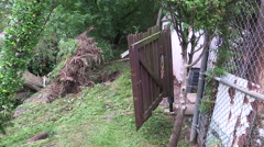 Major flooding property damage after thunderstorm hit Burlington in August 2014 Stock Footage