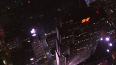 GE Building Manhattan Island Stock Footage